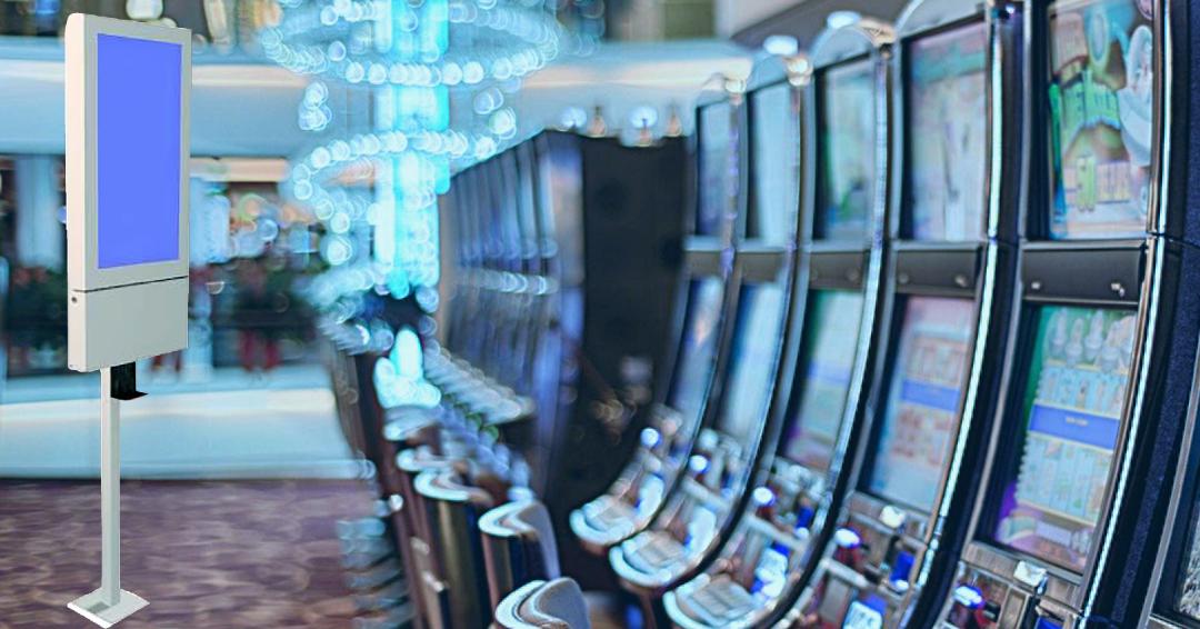 EntComMedia Hand Sanitizer Kiosk in Casino